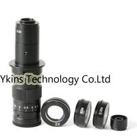 10X ~ 180X Регулируемая Увеличение 25 мм зум c креплением + 0.5X/2.0X/0.35X Барлоу вспомогательный объектив + 2.5X окуляр микроскопа объектива