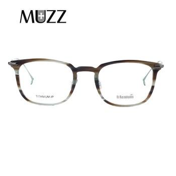 d739854de9 MUZZ 2018 gafas de prescripción ultraligera para mujer montura óptica de miopía  montura de titanio monturas de acetato para hombres