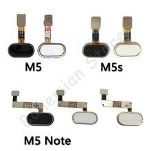 Back Home Button Fingerprint Flex Cable For Meizu M5 Note M5s Mobile Ph