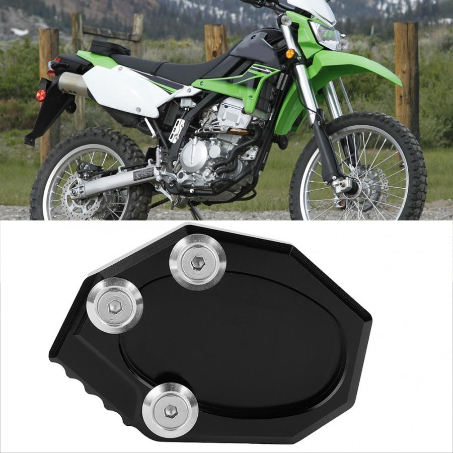 Motorcycle Side Stand Extension Pad Enlarger Fit For KAWASAKI VERSYS 650 KLX 250 Motorcycle Parts CNC Aluminum
