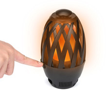 Portable LED Flame Lamp Bluetooth Speakers
