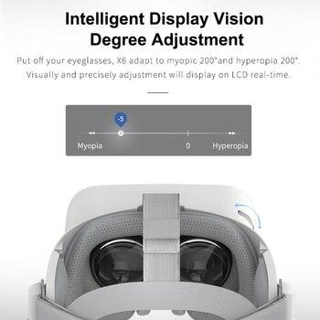 BOBOVR X6 Virtual Reality All in One VR Binocular 2.5K HD VR Headset Android 16GB 3D Glasses Helmet Immersive 5.5' LCD WIFI BT 3