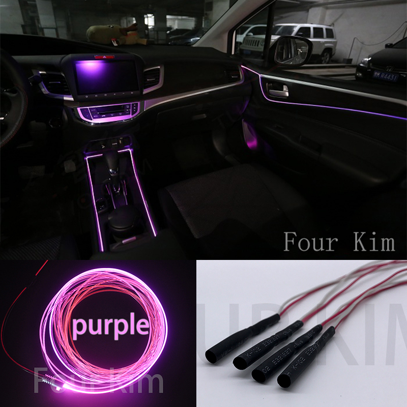 Car Interior Ambient Light Panel illumination For Car Inside Cool Strip Light Optic Fiber Band For Audi BMW Ford Toyota Acura for nissan livina 2006 2013 car interior ambient light panel illumination for car inside cool light optic fiber band