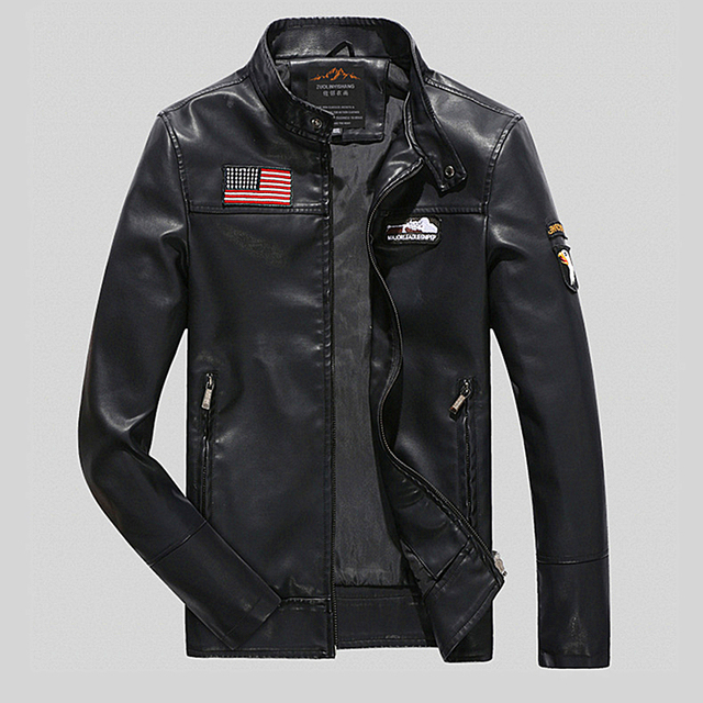 Men's Motorcycle Leather Jacket Men Winter PU Leather Jackets And Coats jaqueta de couro motoqueiro hombre veste cuir homme.DE01