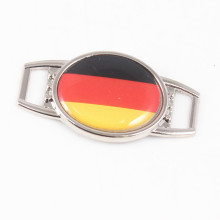 Oval Germany Flag Shoelace Charms for Sport Shoes Outdoor Paracord Bracelet DIY Jewelry 2018 World Cup German National Team Fans(China)