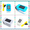 2Pcs Color Blue and White OLED Fingertip Pulse Oximeter With Audio Alarm & Pulse Sound - Spo2 Monitor Finger Puls Oximeter