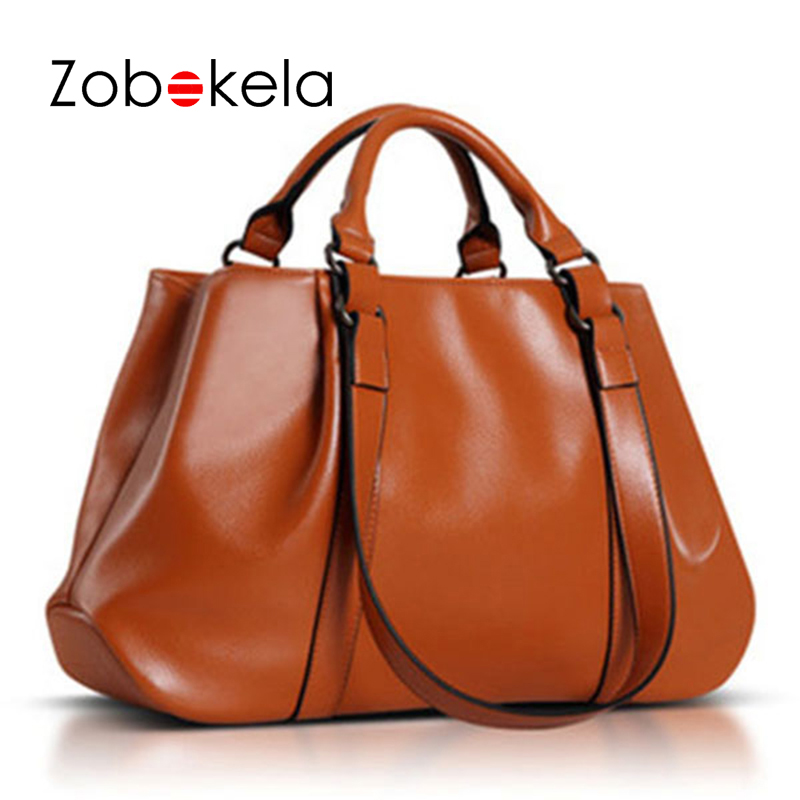 ZOBOKELA Women leather handbags Shoulder Bags handbags women messenger bag famous brand crossbody bags for women 2018 tote giaevvi luxury handbags split leather tote women messenger bags 2017 brand design chain women shoulder bag crossbody for girls