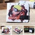 Anime Naruto Chibi Uzumaki Naruto PU Short Zero Wallet/Coin Purse/Multilayer Double-button Wallet