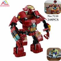 Sermoido 7110 Kompatibel Mit 76031 Marvel Super Heroes Avengers Bausteine Ultron Figures Iron Man Hulk Ziegel Spielzeug DBP168