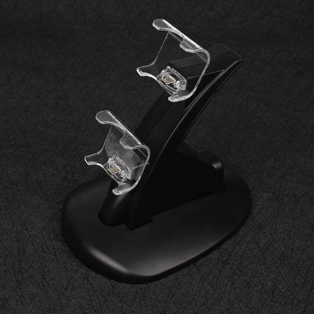 BCMaster High quality Wireless LED Dual USB Charging Dock Docking Charger Cradle Station Stand for PS4 Game Controller
