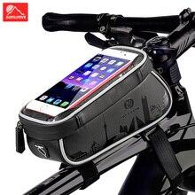 цена на Waterproof Bicycle Bag Front Frame Top Tube Bike Bag Mobile Phone Case Holder MTB Road Bike Rack Pannier Cycling Accessories