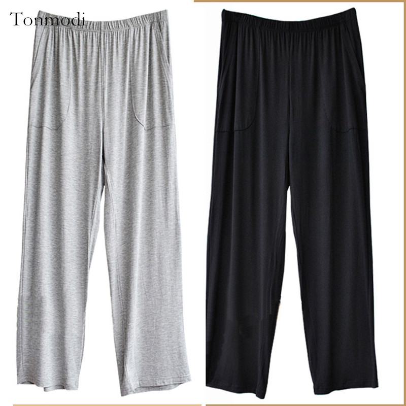Men's Pants Sleep Trousers Modal  Men's Sleep Lounge Sleep Bottoms 5XL 6XL