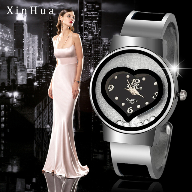 New Hot sell XINHUA bracelet watch women blue luxury brand stainless steel dial