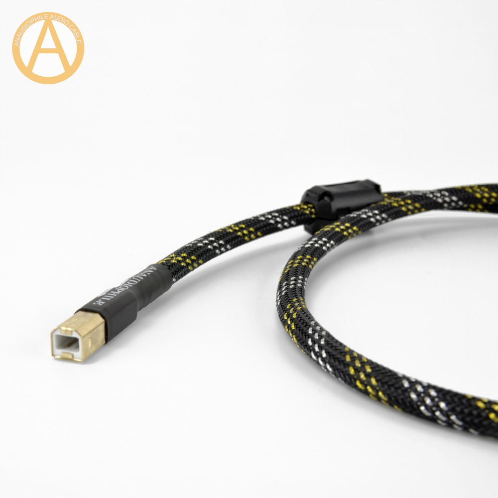 lowest price ANAUDIOPHILE HIFI USB Cable 4N OFC USB Type A To B Data Cable HiFi USB Audio Video Cable DAC PC