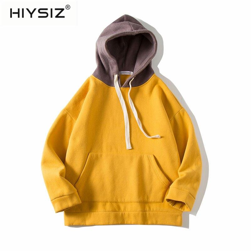 HIYSZI Fashion Lovers Hoodies Thickness Clothes Winter Autumn Sweatshirts Men Hip Hop Streetwear Solid Fleece Man Hoody ST460