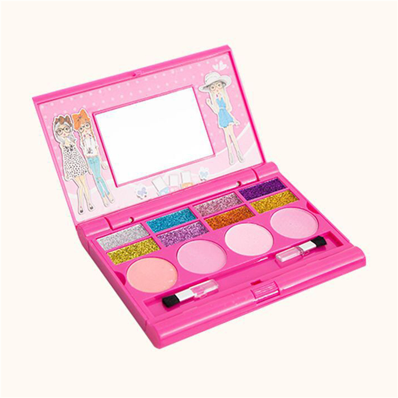 Pretend Play Beauty Toy Cosmetics Girls Kids Safe Makeup Toy Cosmetic Toys For Children Eyeshadow Box Palette Box Sets Fancy Colours Eye Shadow Beauty & Health