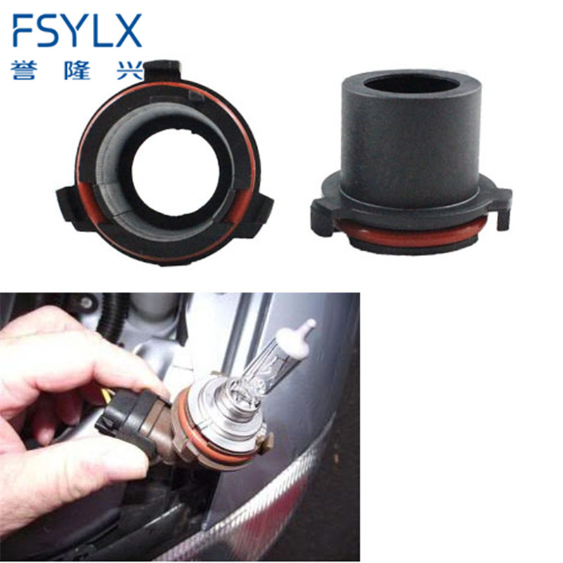 FSYLX 2pcs Halogen H7 HID Xenon Bulb Adapter Retainer Socket Holder For Vauxhall Opel Astra MK4/G Hid Xenon Lamp Adaptor
