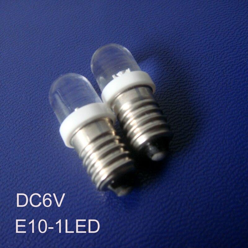 High quality 6v E10 led Signal lights,E10 6V LED Indicator Light 6v led E10 lights bulbs lamps LED E10 free shipping 50pcs/lot