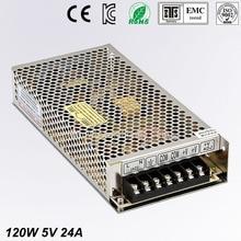 цена на Universal 5V 24A 120W Regulated Switching Power Supply Transformer 100-240V AC to DC For LED Strip Light Lighting CNC CCTV MOTOR