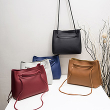 Miyahouse Simple PU Leather Shoulder Bag For Women Korean Style Messenger Bag For Female Solid Color Crossbody Bag Lady