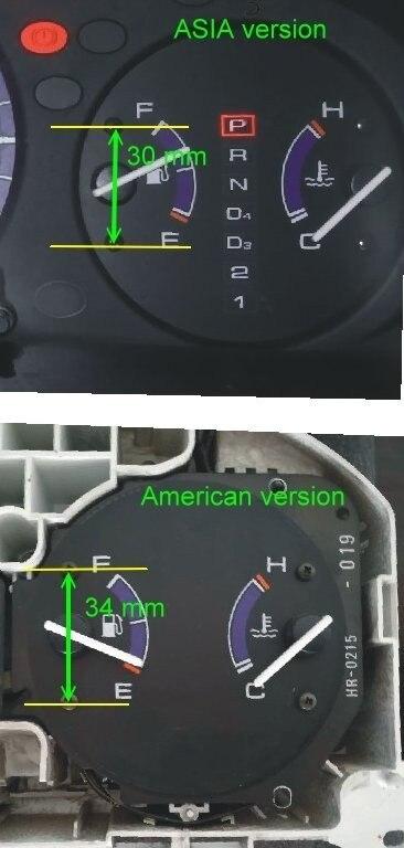 Dash El Glow Gauge For Civic Ek 1996 1999 Manual Transmission Reverse Black Panel White Light Speedometers Aliexpress