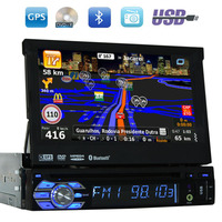 GPS Car DVD Player Digital Touchscreen Car Stereo Navigation 1 Din Radio Player Audio Support IPod