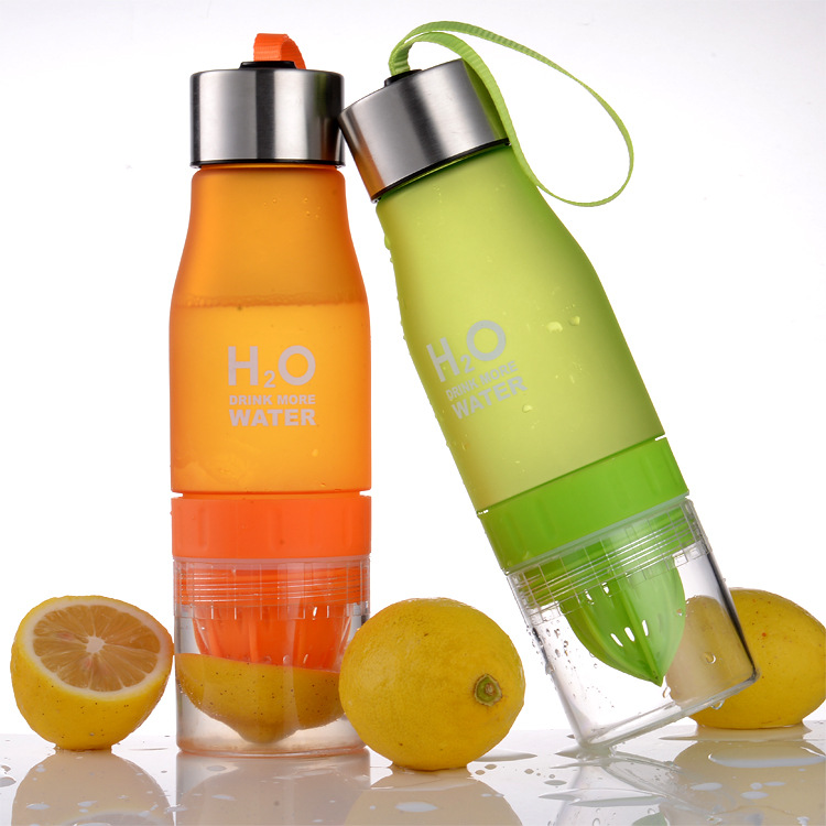 Camping Colorful Health Water Infuser Lemon Juice Bottle Shaker Frosted Plastic Juices Fruit Bottles Whey Protein Outdoor