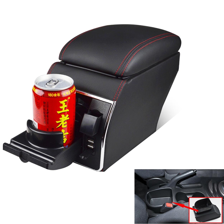 For Kia Soul 2010 2011 2012 2013 Leather Car Interior Parts Center Console Armrest Box Auto