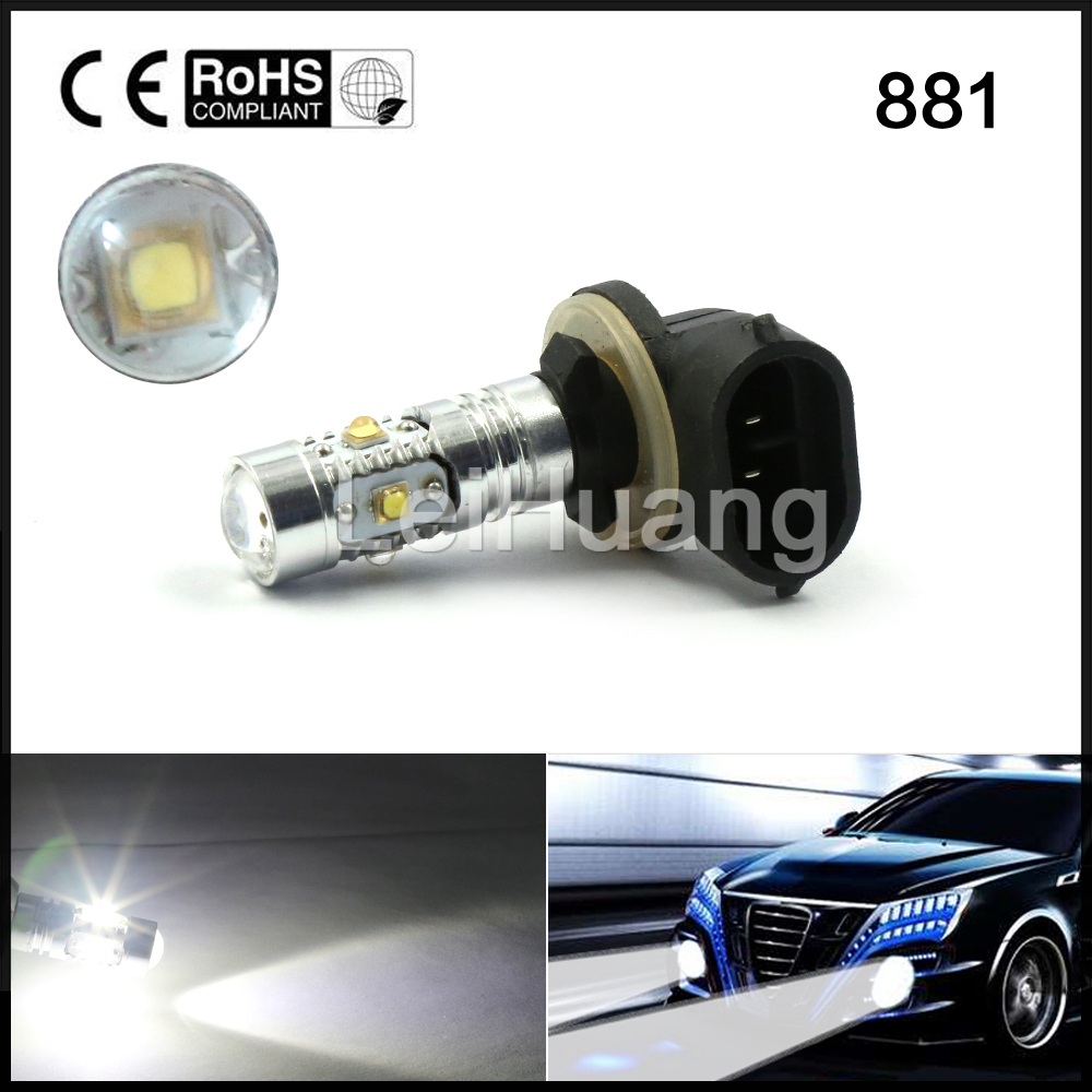 2pcs <font><b>H27</b></font> 881 12V 25W 5 <font><b>Super</b></font> White <font><b>LED</b></font> Car Fog Lamp DRL Daytime Running Light