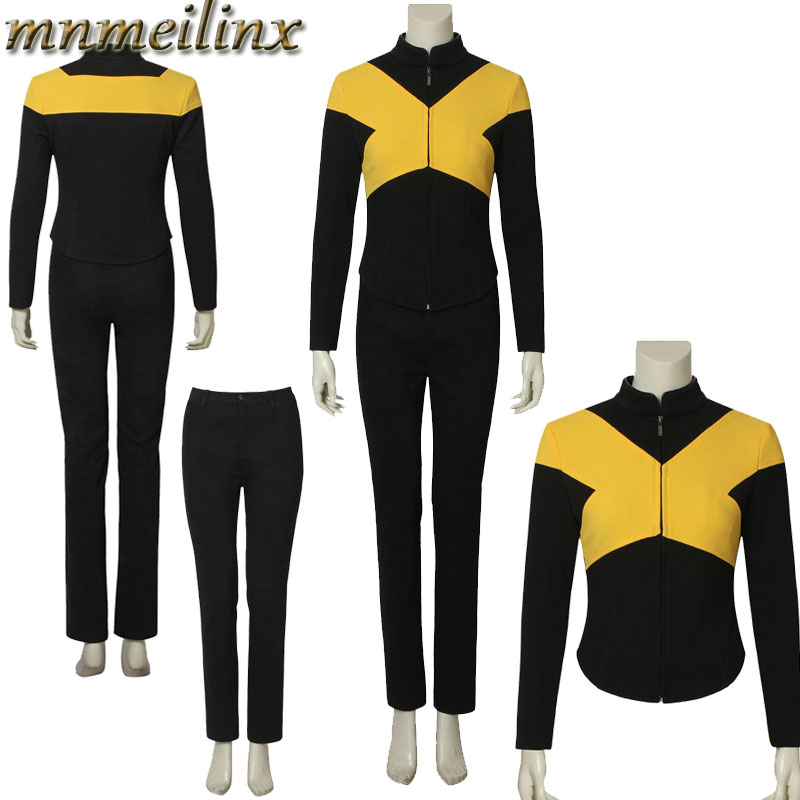 Superhero Cos X-Men:Dark Phoenix Mystique Raven Darkholme Cospaly Costume Top+Pants Outfit Halloween Suit Costum Made Any Size