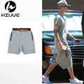 Kanye justin Bieber Man Shorts Large Pocket Drawstring Harem Shorts Casual Joggers Fashion Men Trousers