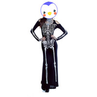 Hot Adult Skeleton Printed Costume Women S Sexy Skull Halloween Ghost Vampire Fancy Dress Zombie Clothes