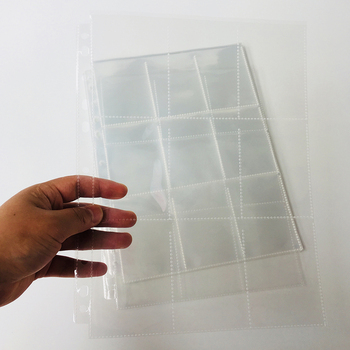 50 Pages Choice, 450 Pockets, Clear Series Card Album Page/Binder Protector Mtg TCG Pokemon Yu-Gi-Oh Binder