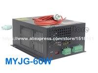 MYJG 60W CO2 Laser Power Supply 110V/220V High Voltage PSU for 60 Watt Tube Engraving Cutting Machine Engraver Cutter Equipment