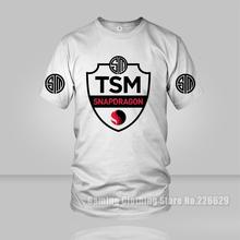 Free shipping Esports LOL Game Team TSM Team Solo Mid snapdragon Print Men T Shirt Team SoloMid casual O neck cotton Top tees