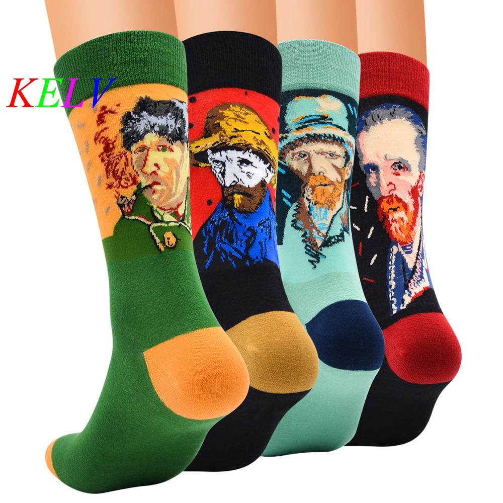 1 Para Professionelle Marke Radfahren Sport Socken Füße Atmungs Wicking Socken Radfahren Socken Kleine Künstlerische Figur Nahen Rohr Socke