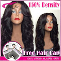 150% Density Glueless Full Lace Wig Brazilian Deep Body Wave Full Lace Human Hair Wig For Black Women Middle Part Lace Front Wig