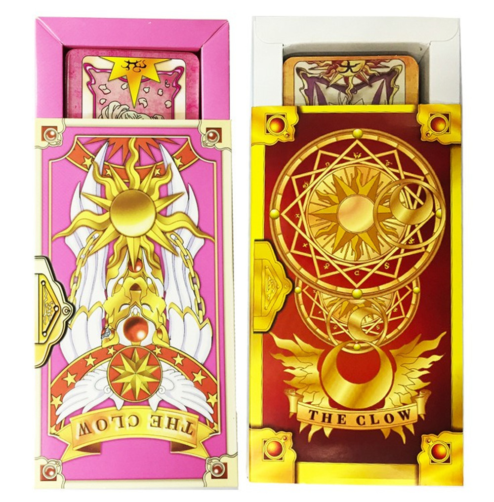 Cardcaptor Sakura Card Cosplay Card Captor Kinomoto Tarot Book With Clow Cards Magic Book Set In Box Prop Gift Phone Chain Novelty & Special Use Costumes & Accessories