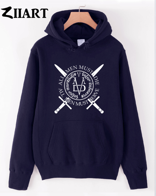 swords all men must die serve valar morghulis Valar Dohaeris couple clothes girls woman female autumn winter fleece hoodies