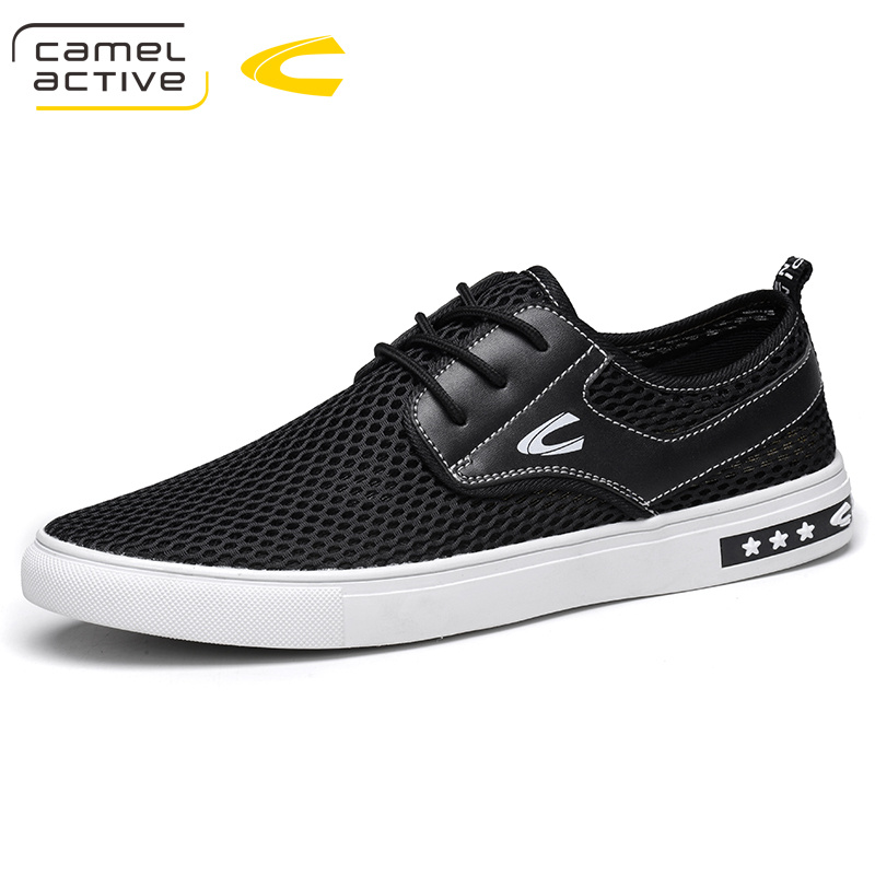Camel Active New Style Breathable Air Mesh Men's Casual Shoes Popular Low Top Lace Up Non-slip Summer Mesh Men Shoes lace mesh sheer slip babydoll