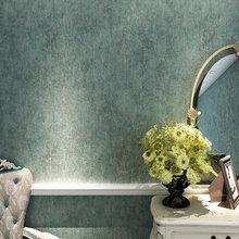 Bronzing Craft Nonwoven Emboss Wallpaper Vintage Blue Bedroom Living Room Roll
