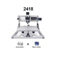 CNC2418 com ER11 cnc gravura Pcb máquina de gravura do laser de PVC diy mini Máquina De Trituração De madeira router cnc 2418 melhor Avançado brinquedos