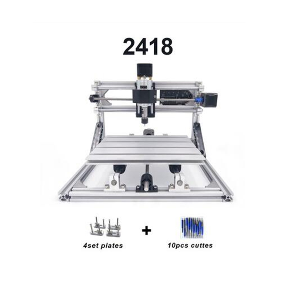 CNC2418 with ER11 cnc engraving machine laser engraving Pcb PVC diy mini Milling Machine wood router cnc 2418 best Advanced toysCNC2418 with ER11 cnc engraving machine laser engraving Pcb PVC diy mini Milling Machine wood router cnc 2418 best Advanced toys
