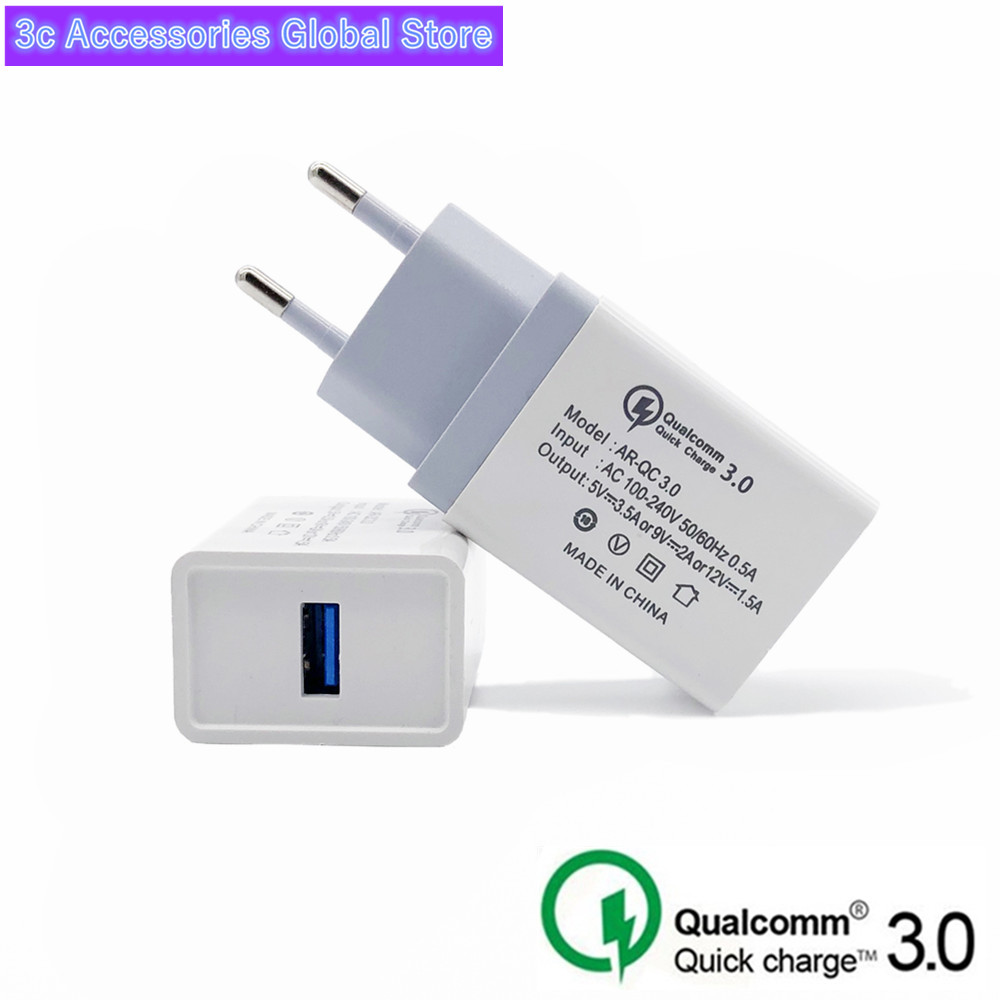 USB Charger Quick Charge 3.0 For Apple Iphone 7 8 6 6s Ipad EU US Power Adapter Charging For Samsung S8 S9 Huawei Phone Charger