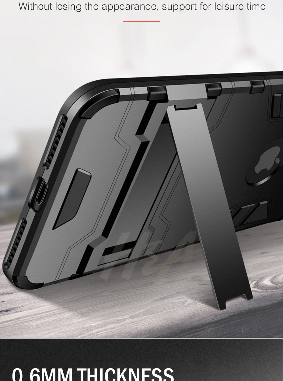 Shockproof Armor Phone Case For iPhone Plus TPU + PC Protective Case 10