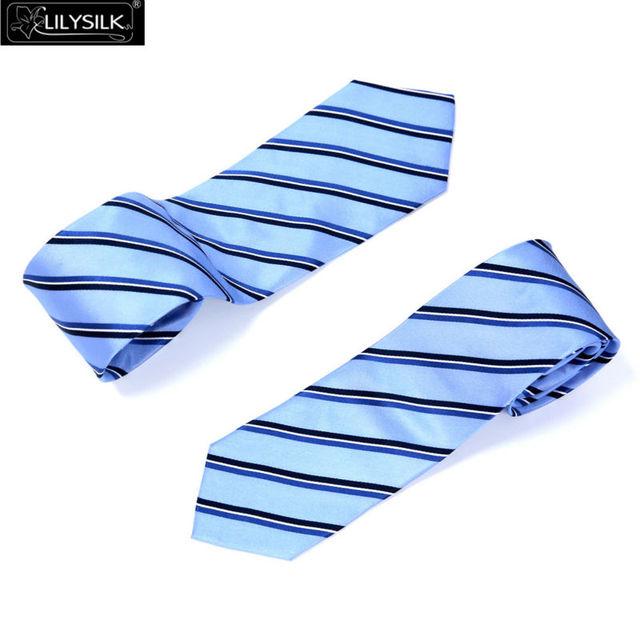 Laços Dos Homens de Seda Lilysilk & Lenços Designers Casamento Luxuoso Magro Gravata Listrada Negócio Masculino Accessaries 150*8.5 cm/* 7.5 cm