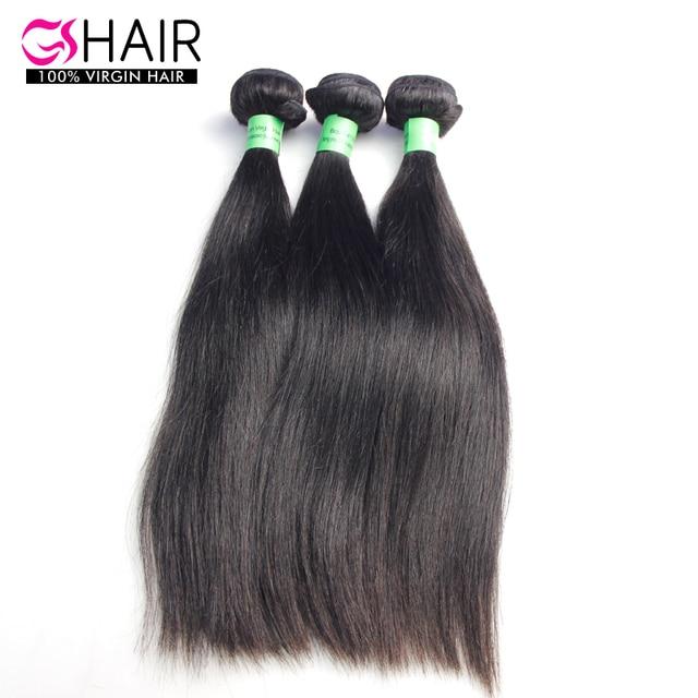 3pcs Brazilian Virgin Hair Straight natural Black Human Hair Weave 8-34inch gs hair extension dhl free shipping