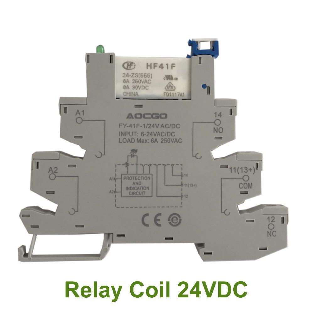12 Channel DPDT DIN Rail Mount IDEC RJ2S 24V Interface Relay Module ...