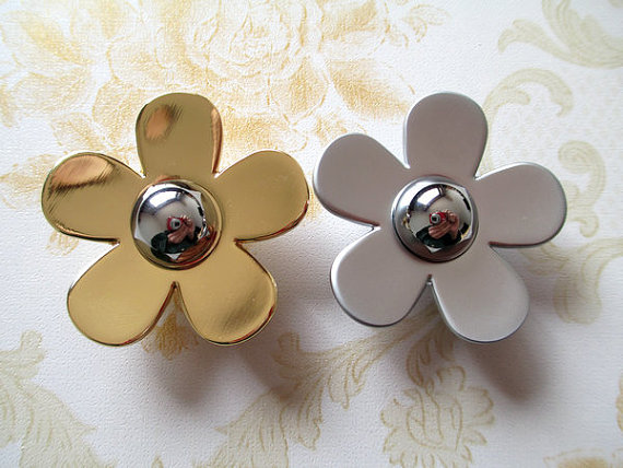 Unique Flower Knobs Dresser Pull Knobs Drawer Knob Handles