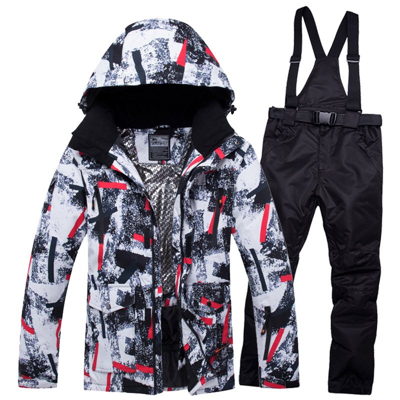 Ski Suit Men Winter New Outdoor Windproof Waterproof Thermal Snow Jacket And Pants Clothes Skiing And Snowboarding Suits